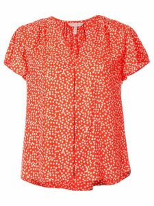Rebecca Taylor all-over print blouse - ORANGE
