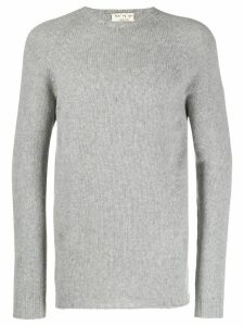 Ma'ry'ya ribbed knit detail sweater - Grey