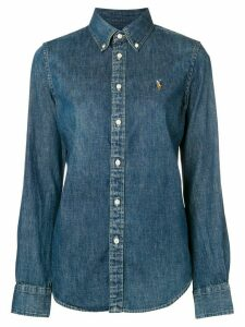 Ralph Lauren logo embroidered denim shirt - Blue