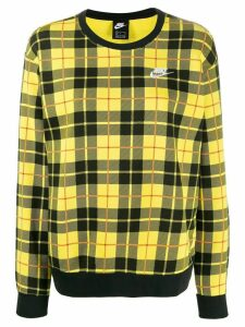 Nike check jumper - Yellow