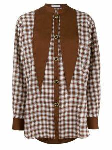Rejina Pyo checked shirt - Brown