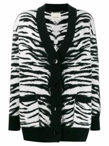 Laneus Tiger knit cardigan - Black
