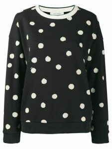 Chinti and Parker polka dot jumper - Black