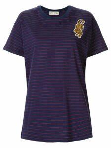 Être Cécile Badge Stripe T-shirt - Blue