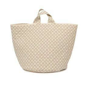 Tori Murphy Cadogan Check Storage Basket In Mushroom