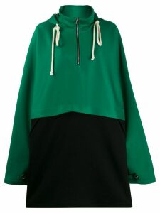 Plan C oversized colour-blocked hoodie - Green