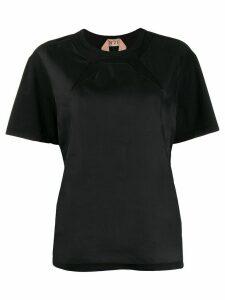 Nº21 panelled T-shirt - Black