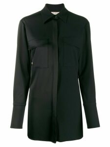 Blanca Vita panelled chest pocket shirt - Black