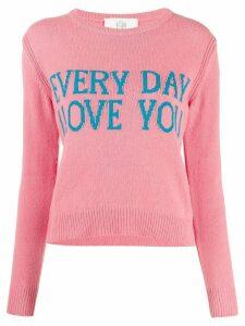 Alberta Ferretti Everyday I Love You jumper - PINK