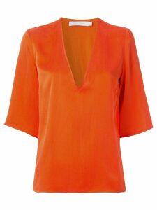 Nobody Denim V-neck boxy fit T-shirt - ORANGE