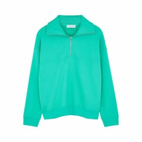 Ninety Percent Green Half-zip Organic Cotton Sweatshirt