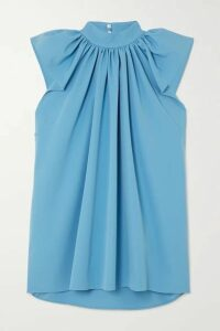 Victoria, Victoria Beckham - Gathered Cady Top - Azure
