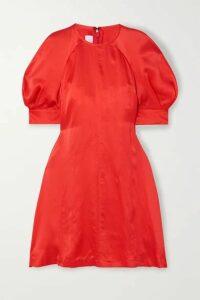 McQ Alexander McQueen - Hisano Hammered-silk Mini Dress - Orange