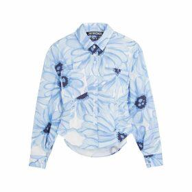 Jacquemus La Chemise Cueillette Printed Poplin Shirt