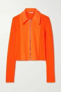 Helmut Lang - Neon Ribbed-knit Cardigan - Orange