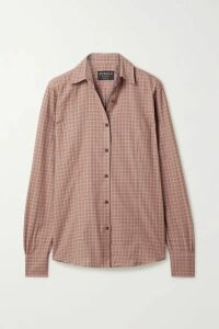 James Purdey & Sons - Grouse Checked Cotton Shirt - Blush