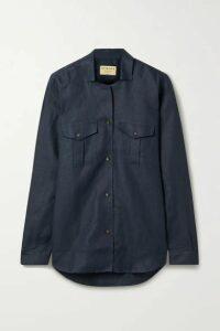 James Purdey & Sons - Linen Shirt - Navy