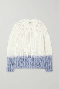 Acne Studios - Dégradé Knitted Sweater - Off-white