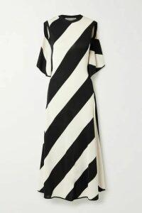 Stella McCartney - + Net Sustain Striped Stretch-knit Midi Dress - Black