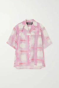 Jacquemus - Vallena Printed Woven Shirt - Pink