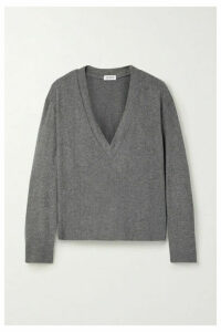 LESET - Lori Brushed Stretch-jersey Top - Gray