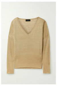 Nili Lotan - Ginny Slub Linen Sweater - Sand