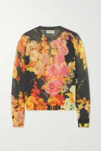 Dries Van Noten - Jesse Floral-print Cotton-blend Sweater - Black