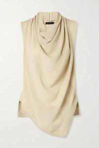 Proenza Schouler - Draped Silk-georgette Top - Taupe