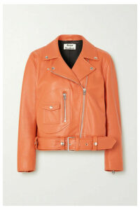 Acne Studios - Leather Biker Jacket - Orange