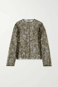 Dries Van Noten - Cure Sequin-embellished Tulle Blouse - Black