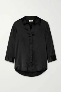 L'Agence - Dani Silk-charmeuse Blouse - Black