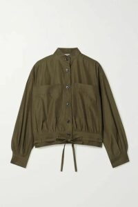 Jason Wu - Tie-detailed Woven Shirt - Army green