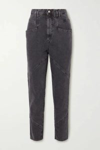 Isabel Marant - Eloisa Paneled Acid-wash Boyfriend Jeans - Charcoal