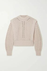Isabel Marant - Prune Ribbed Pointelle-knit Sweater - Ecru