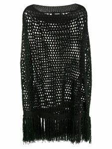 Dsquared2 crochet knit fringed top - Black