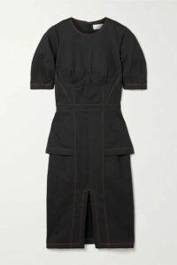 Fleur du Mal - Cotton-blend Canvas Midi Dress - Black