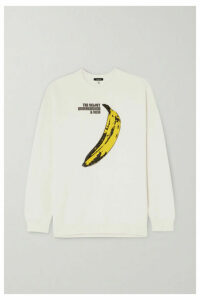 R13 - Oversized Printed Cotton-blend Jersey Sweatshirt - Cream