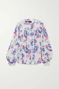 Isabel Marant - Ritonea Pintucked Floral-print Silk Blouse - White
