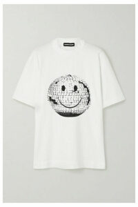 House of Holland - Oversized Printed Cotton-jersey T-shirt - White