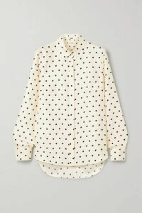 Adam Lippes - Polka-dot Silk-twill Shirt - Ivory