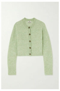 Acne Studios - Kari Cropped Stretch-knit Cardigan - Mint