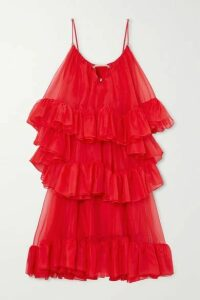 Christopher Kane - Tiered Ruffled Silk-organza Midi Dress - IT40