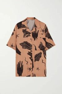 Acne Studios - Printed Twill Shirt - Brown