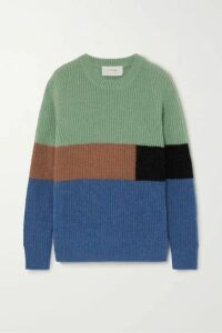 MUNTHE - Emil Color-block Knitted Sweater - Blue