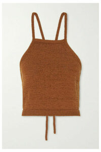 Cult Gaia - Lala Cotton-blend Halterneck Top - Bronze