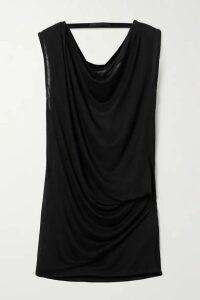 Helmut Lang - Draped Open-back Jersey Top - Black