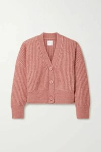 Anine Bing - Maxwell Ribbed-knit Cardigan - Pink
