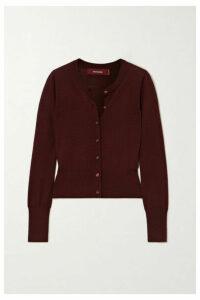 Sies Marjan - Tahira Stretch-merino Wool Cardigan - Burgundy