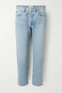 AGOLDE - Parker Cropped High-rise Straight-leg Jeans - Light denim
