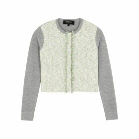 Paule Ka Bouclé-tweed And Silk-blend Cardigan